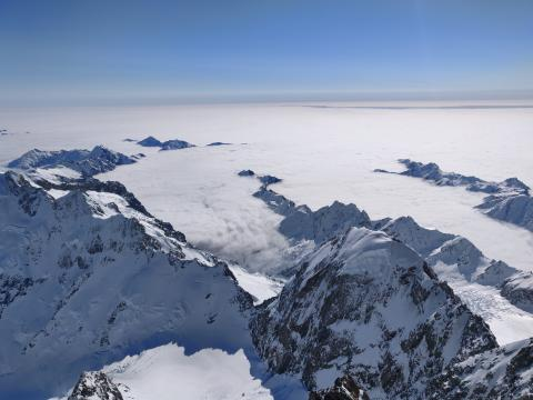 The view West from Aoraki summit